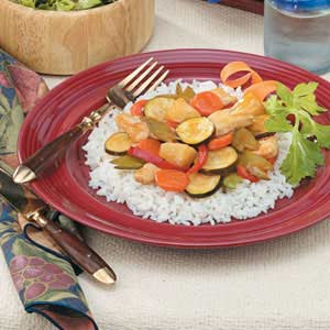 Sweet-and-Sour Chicken with Rice Recipe
