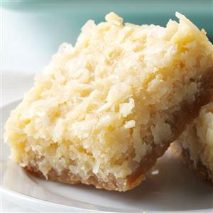 Buttery Coconut Bars Recipe