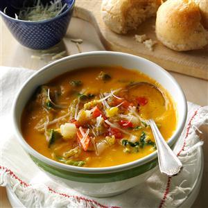 Spicy Sweet Potato Kale Cannellini Soup Recipe