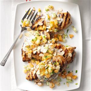 Tandoori-Style Chicken with Cucumber Melon Relish Recipe