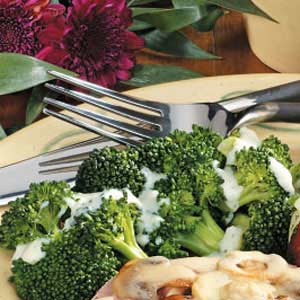 Broccoli with Mustard Sauce for Four Recipe