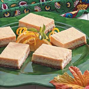 Orange Cheesecake Bars Recipe