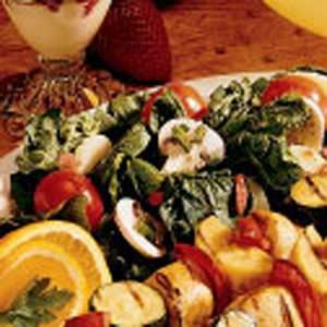 Mushroom Spinach Salad Recipe