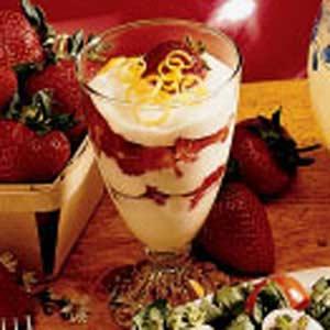 Strawberries with Lemon Cream Recipe