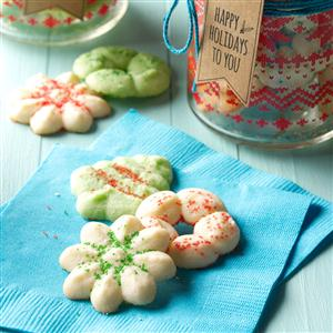 Soft Peppermint Spritz Cookies Recipe