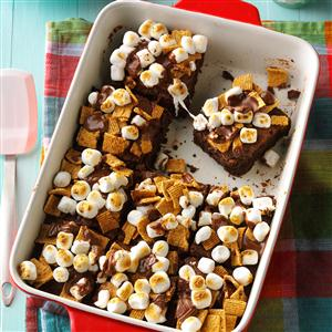 Fudgy S'mores Brownies Recipe