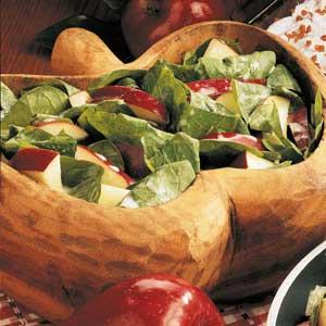 Quick Apple Spinach Salad Recipe