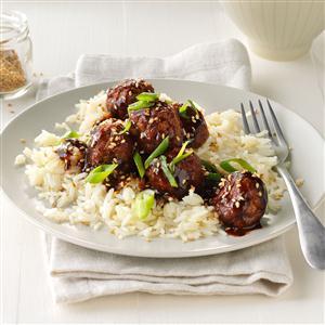 Easy Asian Glazed Meatballs Recipe