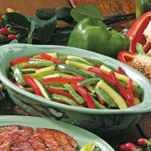 Grilled Peppers and Zucchini for Two Recipe