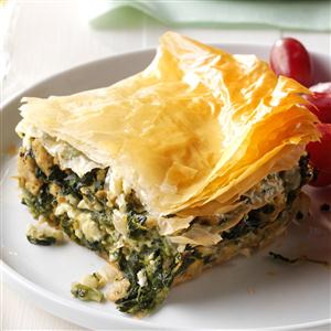 Spinach & Chicken Phyllo Pie Recipe