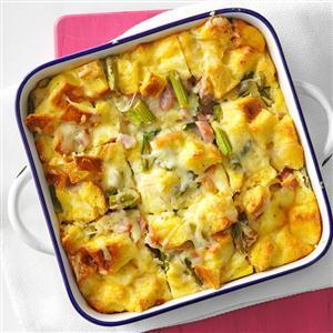 Asparagus & Ham Strata Recipe