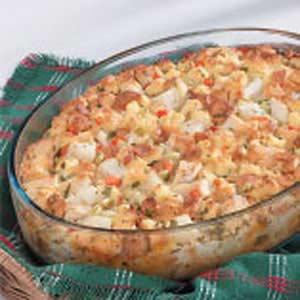 Hearty Chicken Strata Recipe