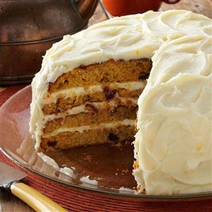 Cranberry-Carrot Layer Cake Recipe