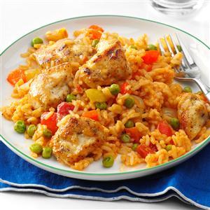 Spanish Rice with Chicken & Peas Recipe