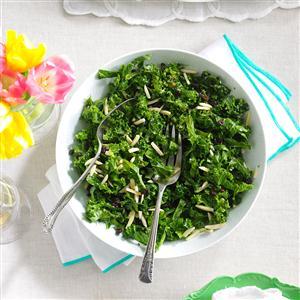 Honey Kale Currant & Almond Salad Recipe