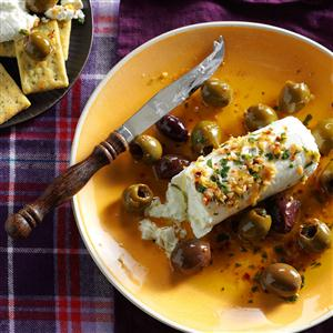 Lemon-Herb Olives with Goat Cheese Recipe