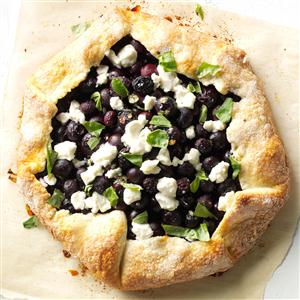 Blueberry, Basil and Goat Cheese Pie Recipe