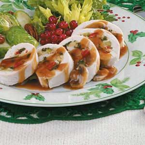 Spinach-Stuffed Chicken Rolls Recipe