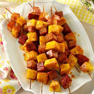 Ham & Pineapple Kabobs Recipe