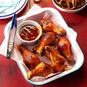 Saucy Barbecue Drumsticks Recipe