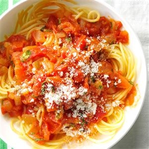 Spaghetti with Fresh Tomato Sauce Recipe