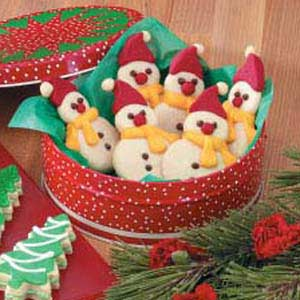 Butter Cookie Snowmen Recipe