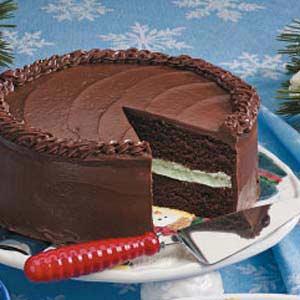 Chocolate Mint Layer Cake Recipe
