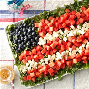 Watermelon Feta Flag Salad Recipe