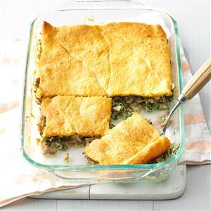 Sausage & Spinach Crescent Bake Recipe