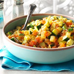Sauteed Squash with Tomatoes & Onions Recipe
