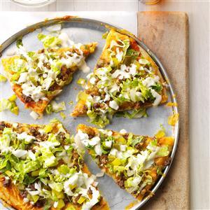 Dill Pickle Hamburger Pizza Recipe