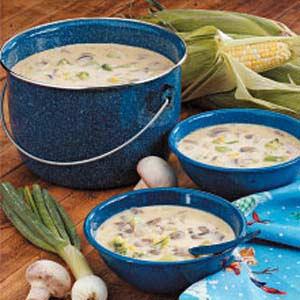 Mushroom Veggie Chowder Recipe