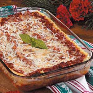 Swiss Cheese Lasagna Recipe