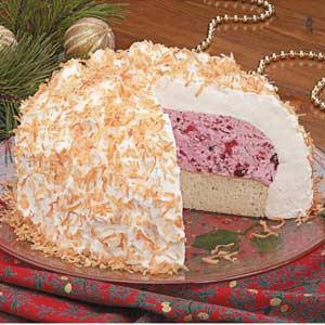 Coconut Cranberry Alaska Recipe