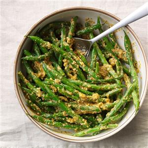 Green Beans in Red Pepper Sauce Recipe