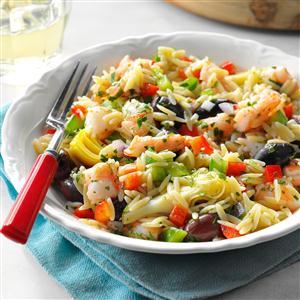 Mediterranean Shrimp Orzo Salad Recipe
