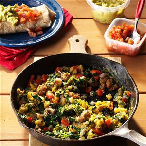 Egg & Spinach Breakfast Burritos Recipe