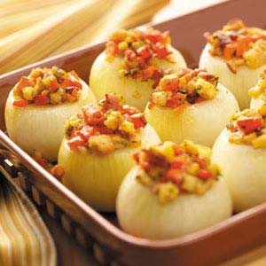 Vegetable-Stuffed Baked Onions Recipe
