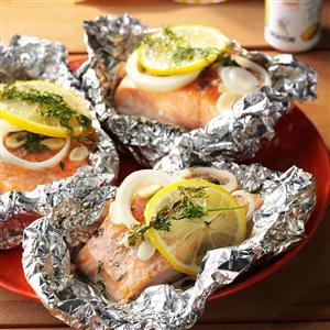 Lemon-Dill Salmon Packets Recipe
