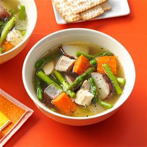 Double-Duty Primavera Chicken Soup Recipe