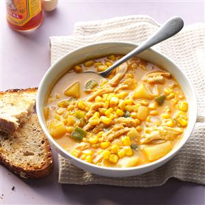 Zippy Chicken & Corn Chowder Recipe