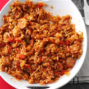 Sausage spanish rice recipe taste of home sausage spanish rice recipe forumfinder Images