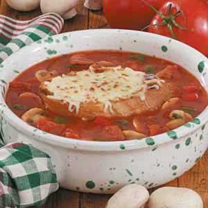 Contest-Winning Pizza Soup Recipe