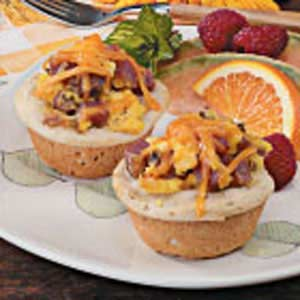 Omelet Biscuit Cups Recipe