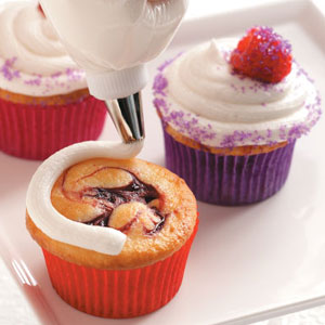 Raspberry Swirl Cupcakes Recipe