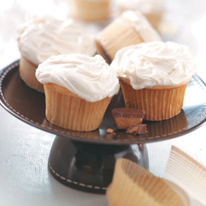 Cupcakes with Peanut Butter Frosting Recipe