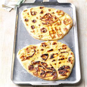Grilled Garlic Naan Recipe
