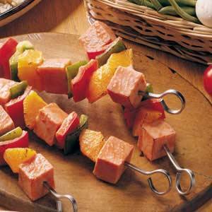 Orange Ham Kabobs Recipe