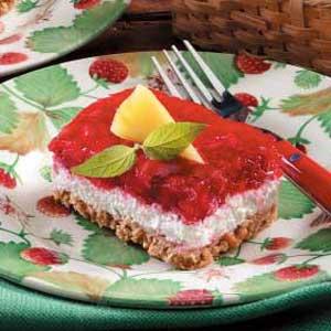 Makeover Strawberry Pretzel Dessert