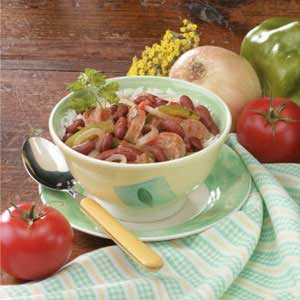Kidney Bean Sausage Supper Recipe